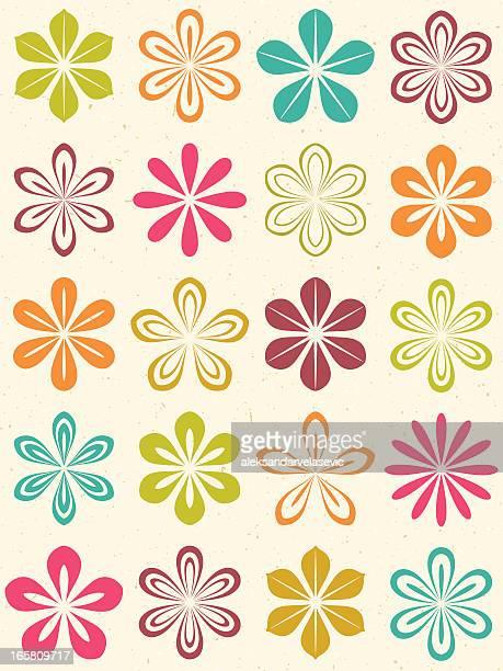Moderne nahtlose Blumenmuster