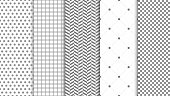 Modern seamless pattern background. Abstract set for elegant design, fashion universal background. Vector