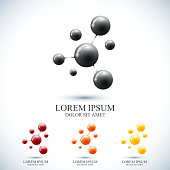 Modern set icon dna and molecule. Vector template for medicine, science, technology , chemistry, biotechnology.
