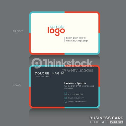 Modern simple business card design vector art thinkstock modern simple business card design vector art colourmoves