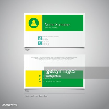Modern simple design business invitational card template : Vector Art