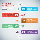 Modern timeline design template. Timeline Infographic. Vector design template.
