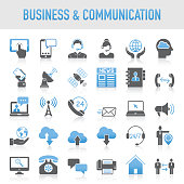 Modern Universal Business & Communication Icon Set
