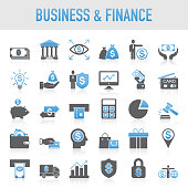 Modern Universal Business & Finance Icon Set
