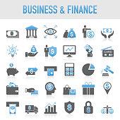 Modern Universal Business & Finance Icon Set