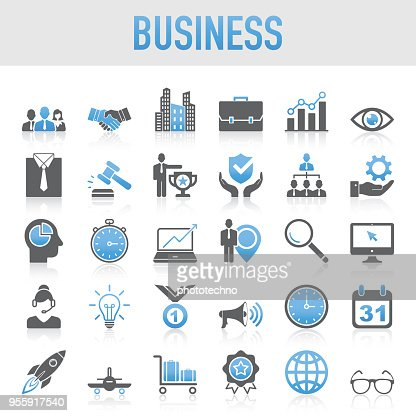 Modern Universal Business Icon Set : Vector Art