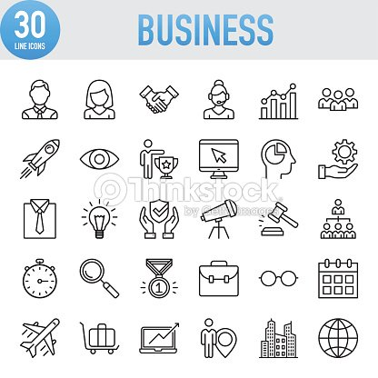 Modern Universal Business Line Icon Set : stock vector