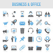 Modern Universal Business & Office Icon Set