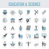 Modern Universal Education And Science Icons Set
