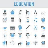 Modern Universal Education Icons Set