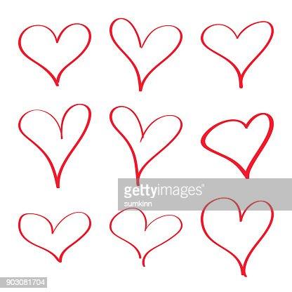 Moderne Vektor Herzen. : Vektorgrafik