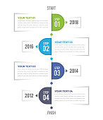 This is Vertical Timeline Infographics Template. It can be used in almost every project.