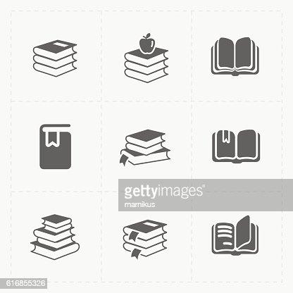 Modern Web Books set on White. : Vector Art