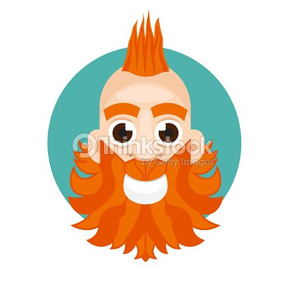 Mohawk Hairstyle Man Avatar Icon Vector Art Thinkstock