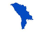 vector illustration of Moldova map