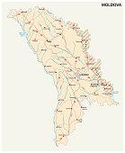moldova-transnistria road vector map