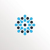 template of molecular neuron sun icon icon with clean background