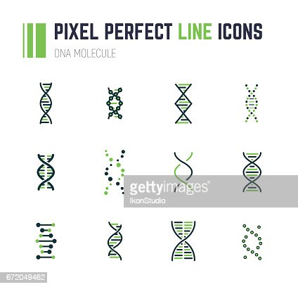 DNA molecule icon set : Vector Art