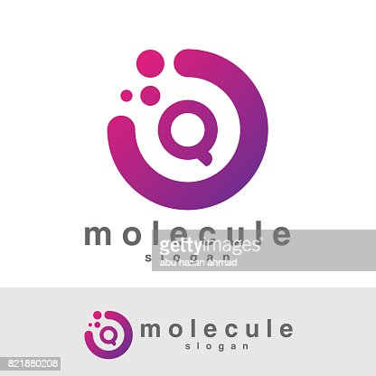 molecule initial Letter Q icon design : Vector Art