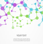 Background template with multicolored molecules design. eps10 - contains transparencies