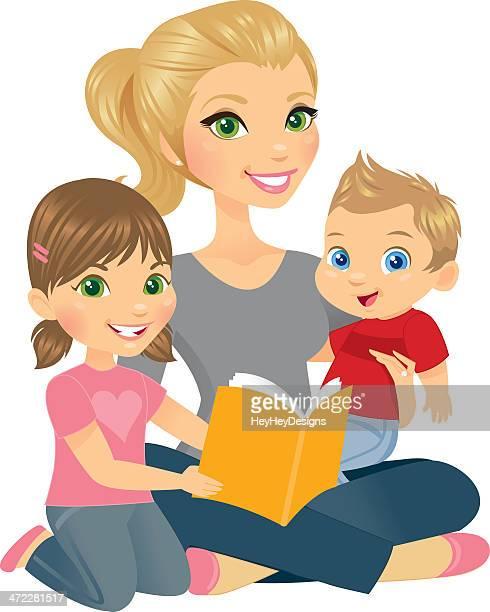 Mommy und zwei Kinder