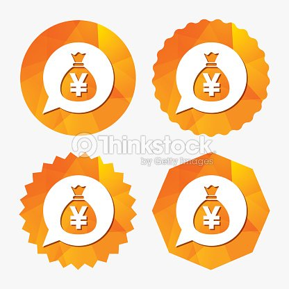 Money Bag Sign Icon Yen Jpy Currency Vector Art Thinkstock