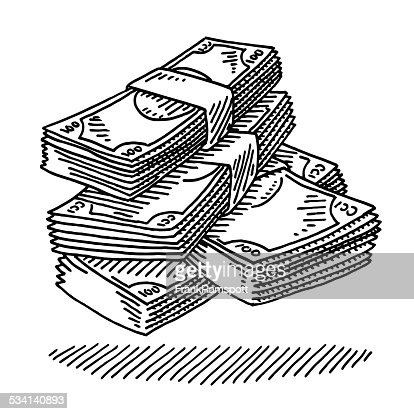 Money Stack Clip Art Money Banknotes Drawin...
