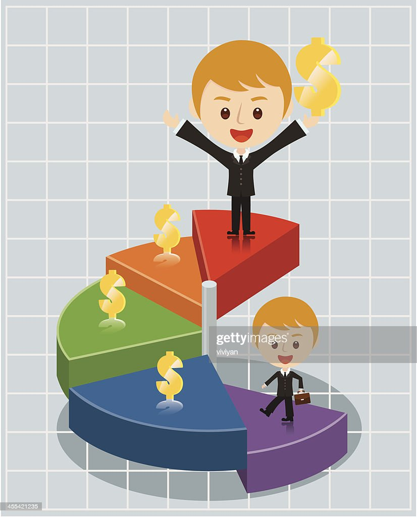 Money Growth With Pie Chart Vector Art Getty Images