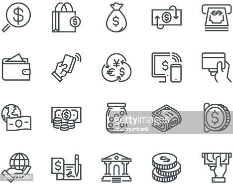 Money Icons,  Monoline concept : stock vector
