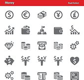 Professional, pixel perfect icons depicting various money and finance concepts (optimized for both large and small resolutions).