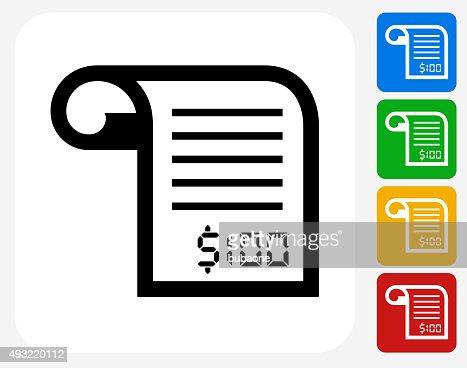 Money Receipt Icon Flat Graphic Design Vector Art – Money Receipt Design