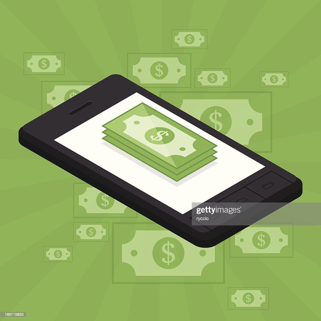 Money smartphone : Vector Art