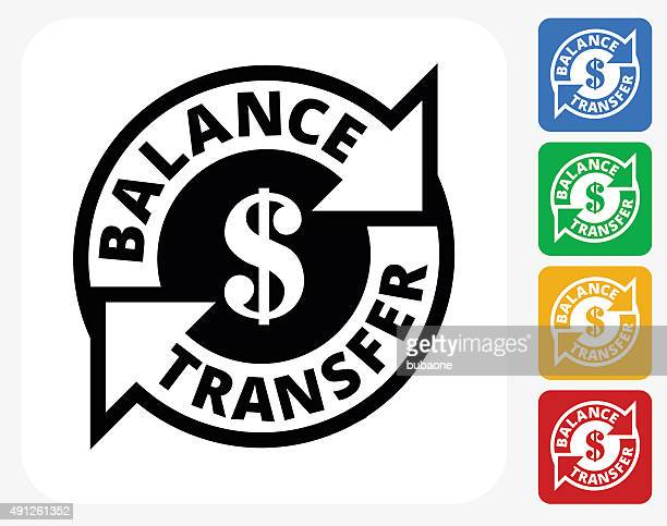 Money Transfer Icon Flat Graphic Design