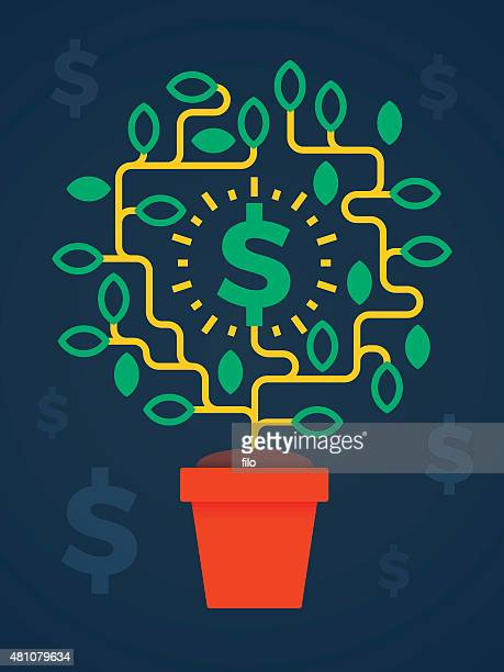 Money Tree Growing Business Concept