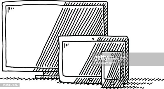 cran tablette pc t l phone intelligent dessin clipart vectoriel getty images. Black Bedroom Furniture Sets. Home Design Ideas