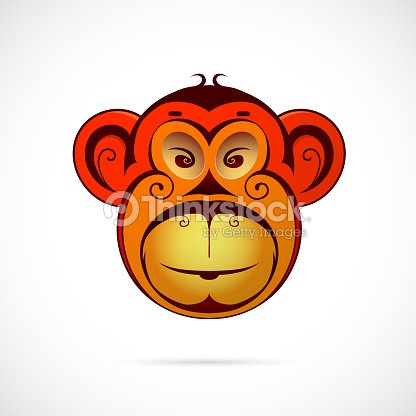 Monkey Cartoon As Symbol For Year 2016 Vector Art Thinkstock