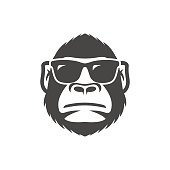 Monkey with sunglasses mascot