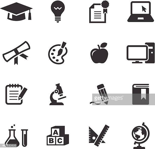 L'éducation icônes Set/Mono
