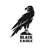 Monochrome eagle symbol.