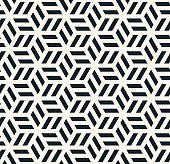 seamless monochrome hexagonal pattern.