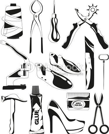 Réparation Monochromes Doutils Dimages De Ensemble Chaussures OPZikXu