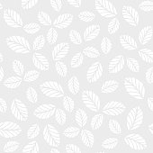 Seamless vector pattern with leaves. Monochrome background for fashion print, wallpaper design