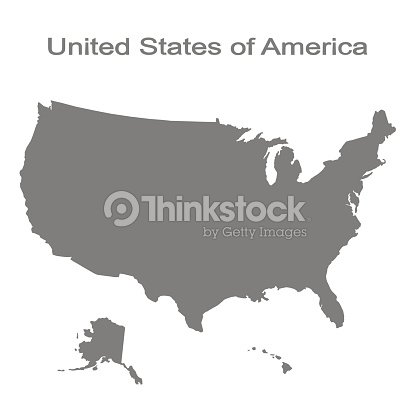 monochrome set with map of united states of america : stock vector