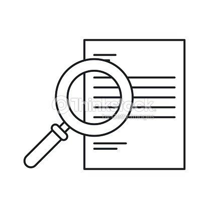 12dd1dcb96491 monocromo silueta de lupa Buscar documento   arte vectorial