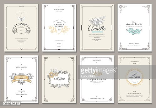 Monogram creative cards template : Vector Art