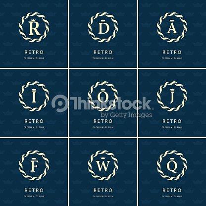Diseño Del Monograma Elementos Elegantes Plantilla Inglés Letras