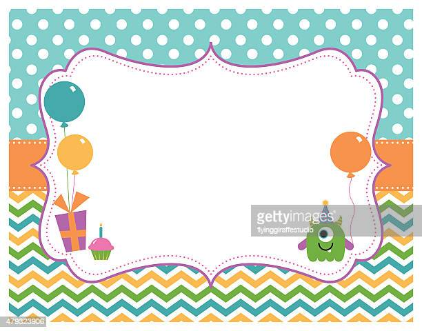 Monster Birthday Party Card