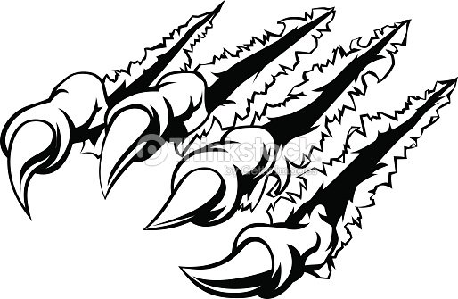 Monster Claw Ripping Or Tearing Stock Vector Thinkstock