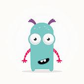 Cute monster illustration vector