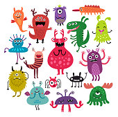 Funny Monsters vector set